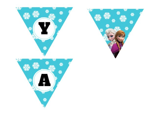 Disney's FROZEN Birthday party Printable package! Instant Download. Disney Frozen Party, Disney Princess, Frozen Banner, Elsa Party 5