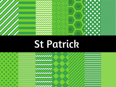 St Patrick Digital Paper, Saint Patrick Background, Leprechaun Digital Paper, Scrapbook Paper, St Patrick