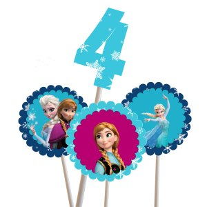 Frozen Centerpiece. Frozen Cake Topper, Frozen Cupcake Topper, Disney Frozen Centerpiece, Frozen Center Piece,