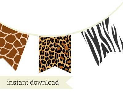 Safari Banner, jungle banner