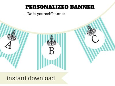Breakfast at tiffanys Banner, tiffanys Banner, tiffanys Bridal Shower Banner, Baby Shower Banner, tiffanys Birthday Banner, aqua Blue diy banner