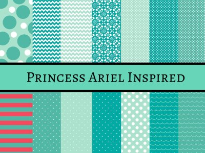 princess ariel digital papers