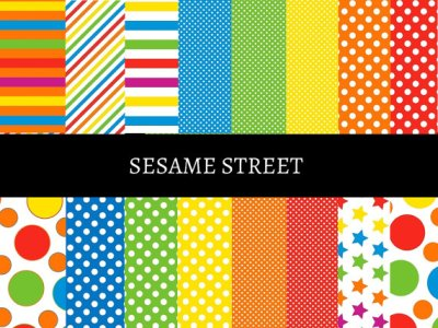 Sesame Street Digital Papers