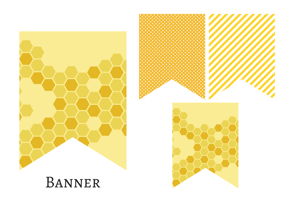 Banner Honey Bee Bumble Bunting What Will It BEE Baby Shower