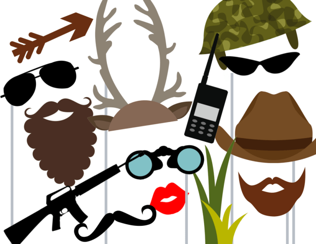Camo Hunting Photo booth Props
