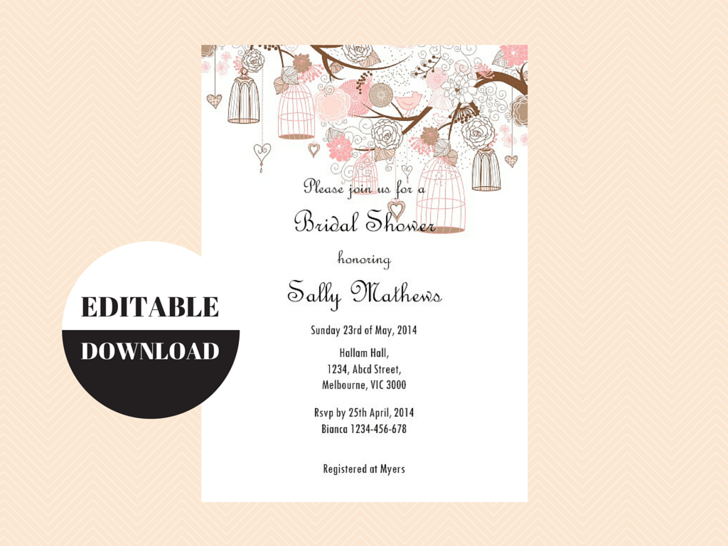 Editable invitations download edit print magical printable editable baby shower invitations editable bridal shower invitations editable birthday party invitation love stopboris