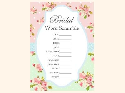 bridal-word-scramble-mint-pink-shabby-chic-bridal-shower-games-pack-printables-vintage-rose-antique-rose