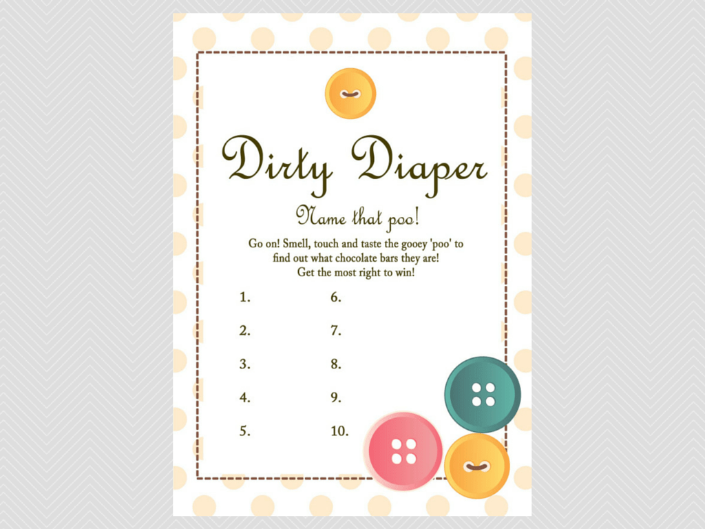 Cute as a Button Baby Shower Games - Magical Printable