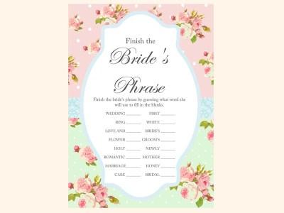 finish-the-brides-phrase-sentence-mint-pink-shabby-chic-bridal-shower-games-pack-printables-vintage-rose-antique-rose