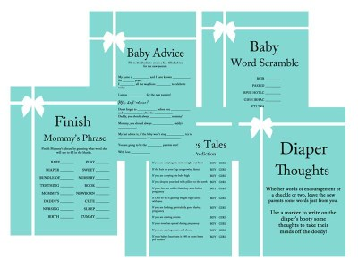 tiffany and co baby shower game and activity pack