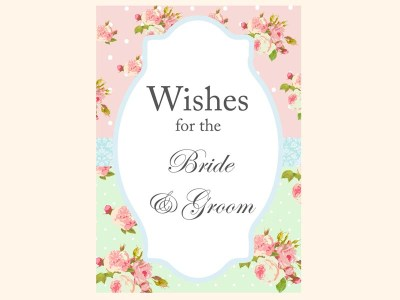 wishes-for-bride-and-groom-sign-mint-pink-shabby-chic-bridal-shower-games-pack-printables-vintage-rose-antique-rose