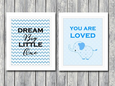 Printable Nursery Art Baby Nursery Wall Art Print, Elephant Nursery Art, Baby Nursery Decor, Instant Download PDF 8x10 SN19