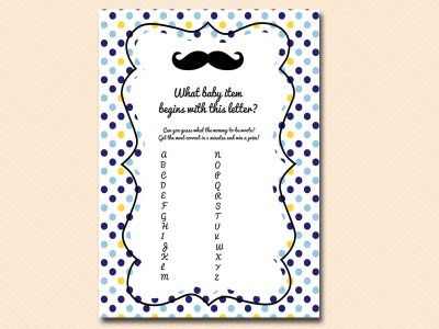 baby-item-game Mustache Baby Shower Games & Acitivies
