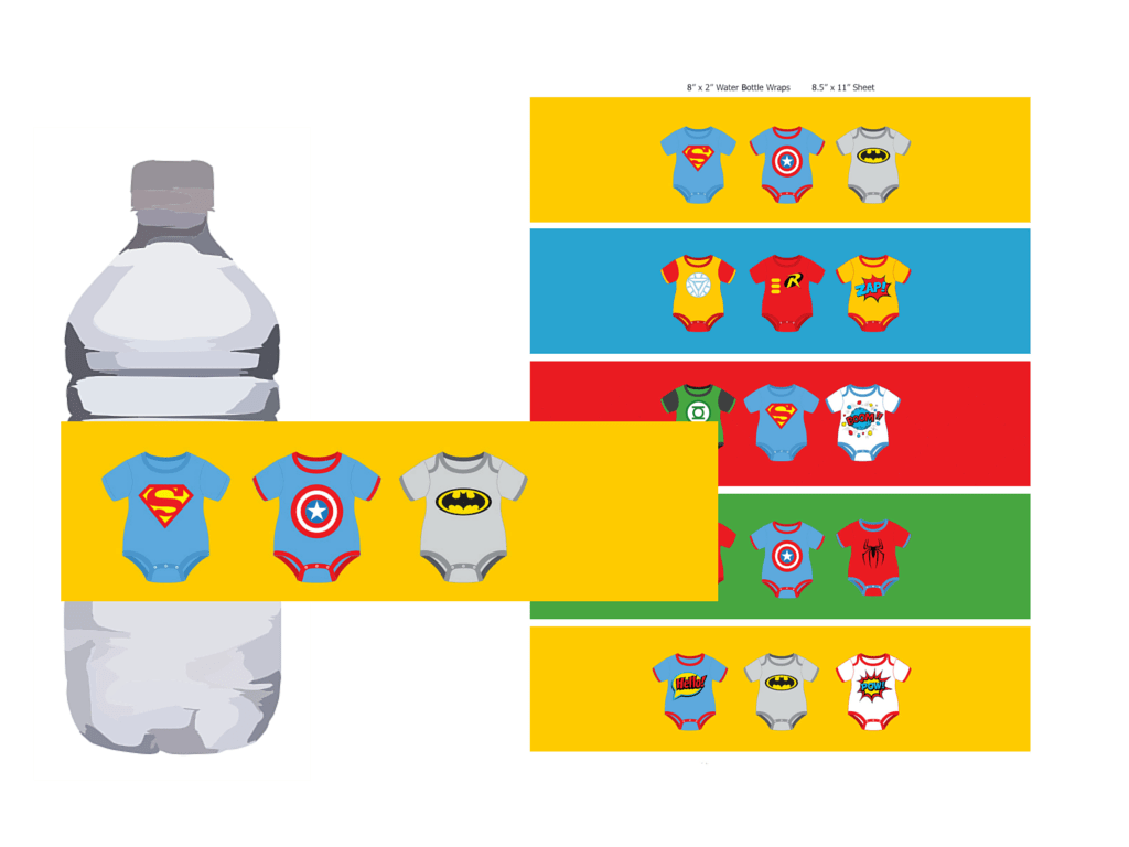 Superhero Baby Shower Printable - Magical Printable