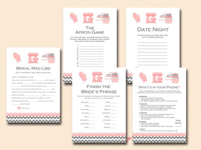 kitchen themed bridal shower game printable, baking theme, cooking theme, recipe theme bridal shower games bs76