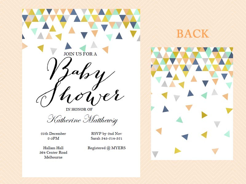 Editable Geometric Baby Shower Invitations - Magical Printable