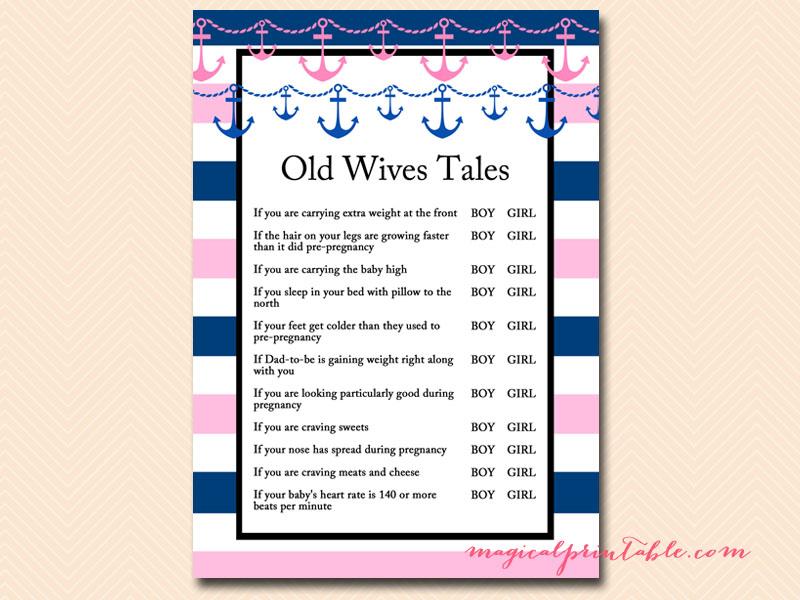 Old Wives Tales Gender