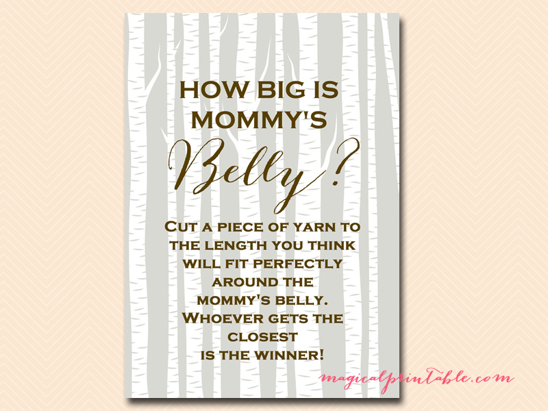 It is a photo of Insane How Big is Mommy's Belly Printable