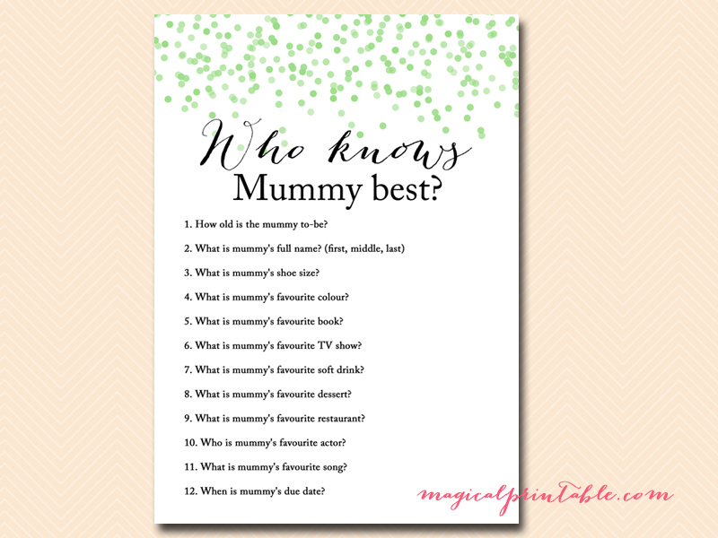 who-knows-mummy-best Baby Shower On Pinterest