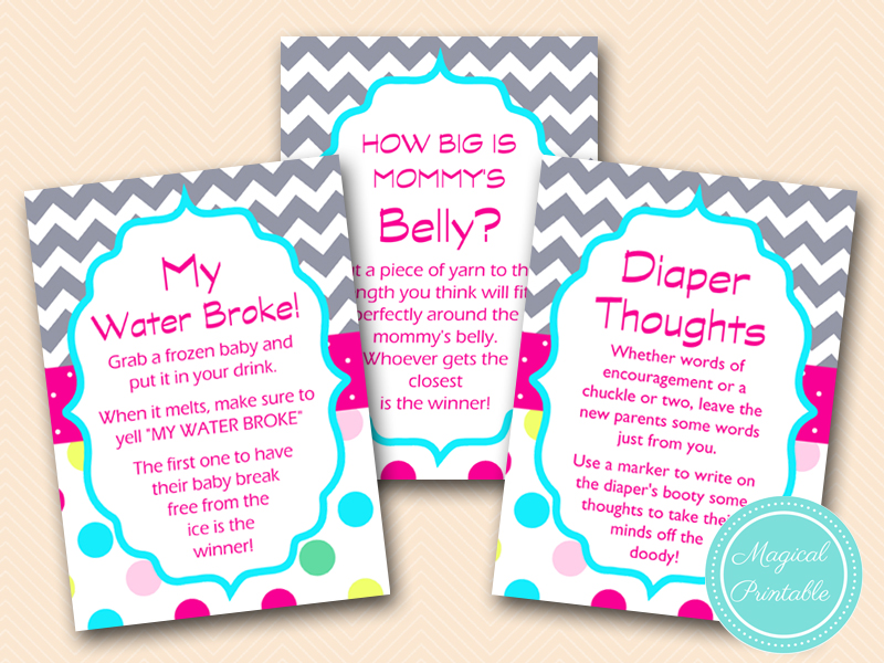 Sugar and Spice Baby Shower Games - Magical Printable