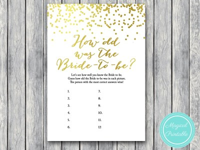 how-old-was-bride bridal shower game