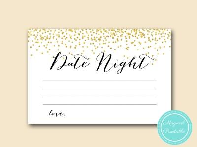 date night idea card 6x4