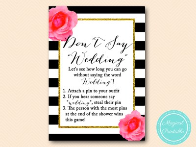 dont say wedding steal a pin game