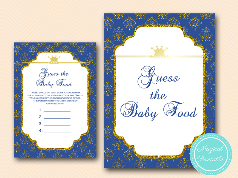 ... Guess The Baby Food Game Prince Baby Shower