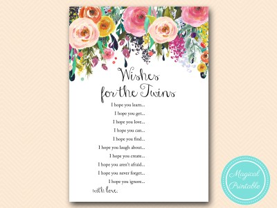wishes for the twins baby shower