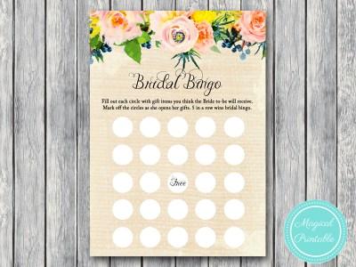 BS183-bingo-gift-items-rustic-burlap-floral-bridal-shower-games