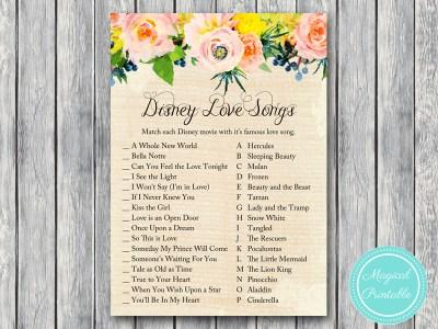 BS183-disney-love-songs-rustic-burlap-floral-bridal-shower-games