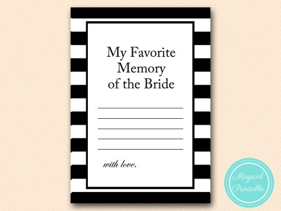 BS19-favorite memory of the bride black stripes game