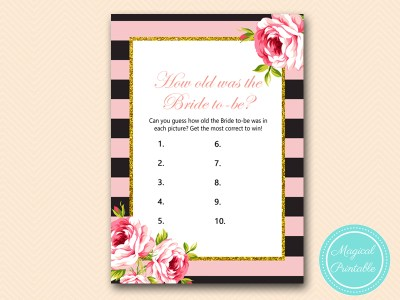 BS419-how-old-was-bride-to-be-pink-floral-bridal-shower-game