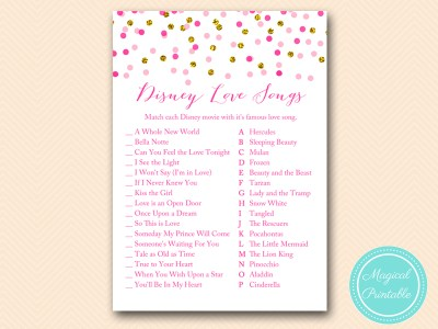 BS425-disney-love-song-match-pink-gold-bridal-shower-game