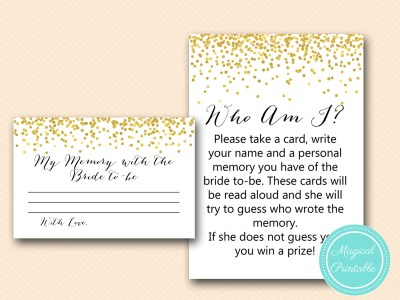 BS46-who-am-i-memory-lane-gold-confetti-bridal-shower-game