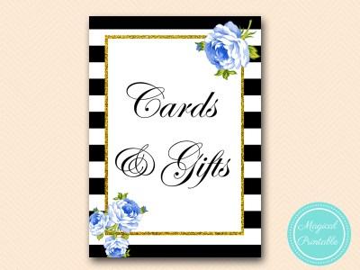 sign-cards-and-gift-blue-floral-black-stripes-printable-sign