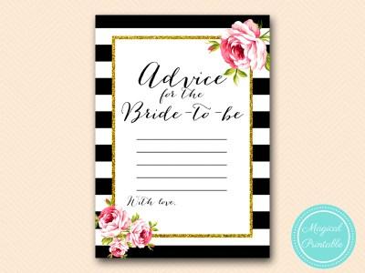 BS10B-advice-for-bride-black-stripes-pink-chic-bridal-shower-game