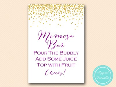 BS84-sign-mimosa-bar-gold-purple-bridal-shower-decoration-sign