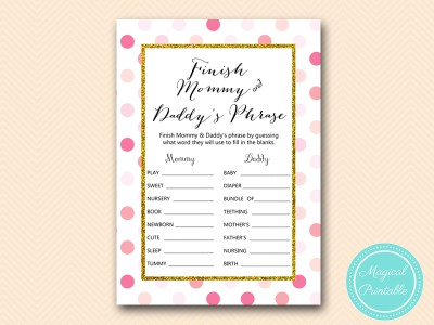 TLC430-P-finish-mommy-daddys-phrase-pink-gold-baby-shower-game-girl