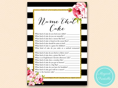 name that cake chic bridal shower game printable bs10