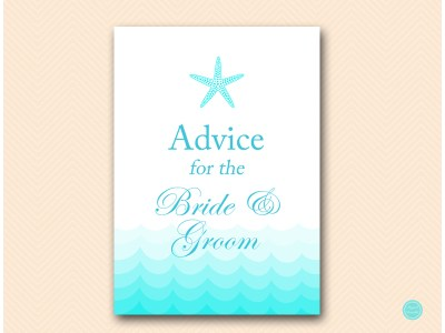 advice-for-bride-and-groom-sign-beach-bridal-shower-game