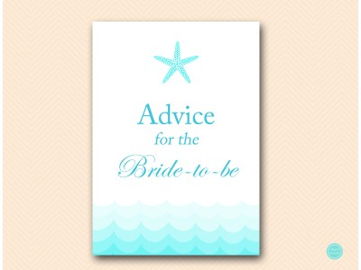 advice-for-bride-sign-5x7-beach-bridal-shower-game