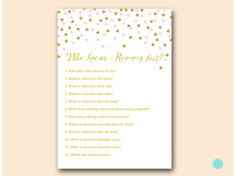 What's In Your Bag Bridal Shower Game Pink and Gold Ba...
