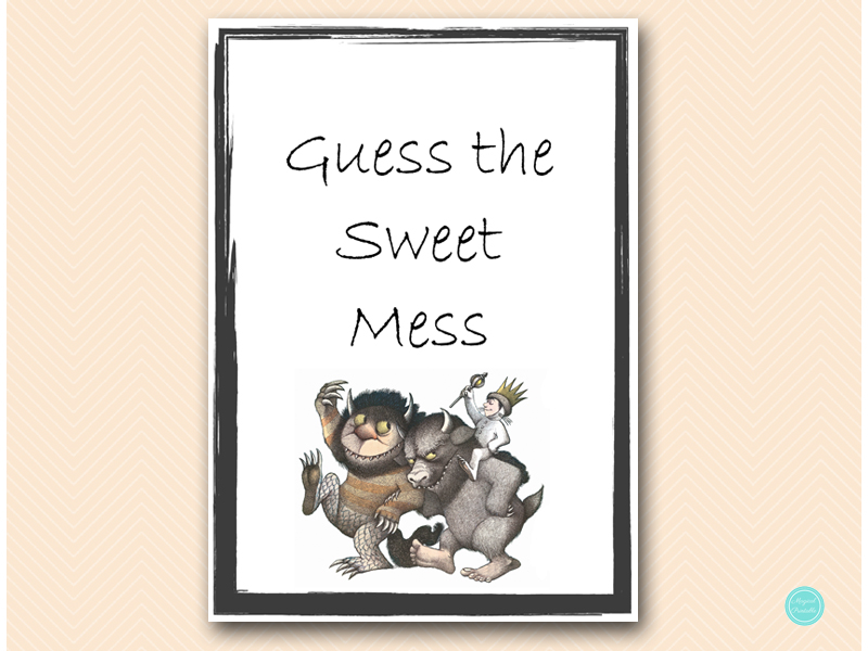 sweet mess sign king where the wild things are baby shower game
