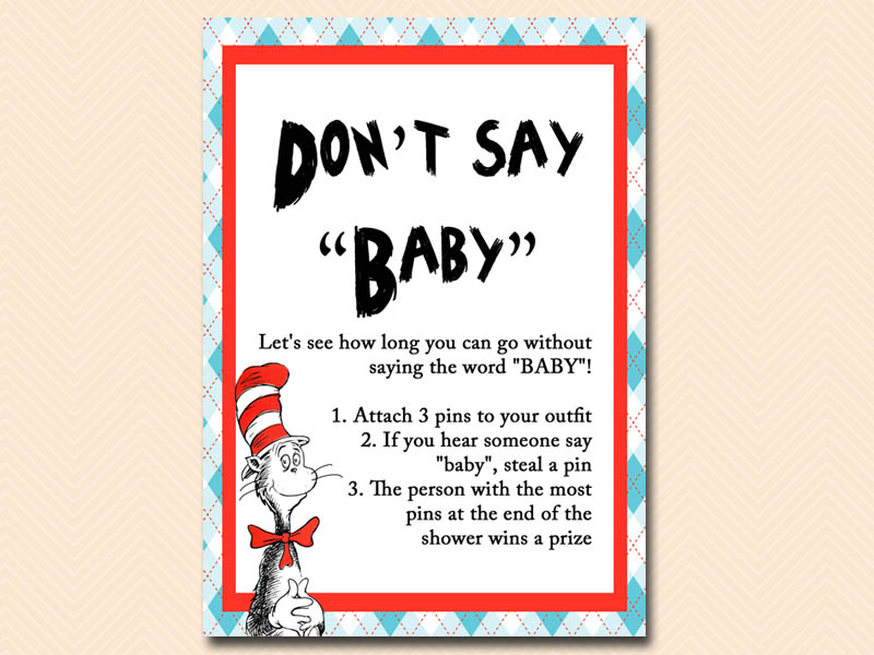 Thing one and thing two baby shower ideas