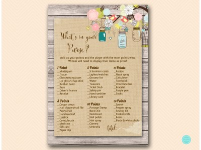 BS498-whats-in-your-purse-rustic-whimsical-mason-jars-bridal-shower