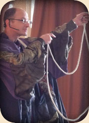 Routine de corde pour un spectacle d'enfants