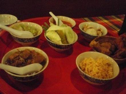 a fancy Thai meal