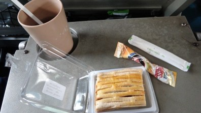 Afternoon tea on the train to Phetchaburi