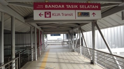 Bandar Tasik Selatan Station Sign - KLIA, TBS, KTM Train Station
